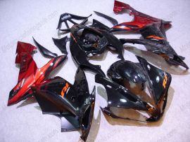 Yamaha YZF-R1 2004-2006 Injection ABS Fairing - Black Flame - Black/Red