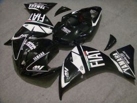 Yamaha YZF-R1 2009-2011 Injection ABS Fairing - FIAT - Black/White
