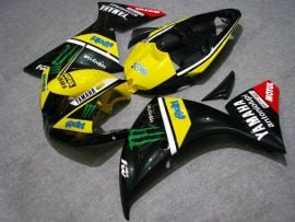 Yamaha YZF-R1 2009-2011 Injection ABS Fairing - Monster - Black/Yellow