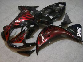 Yamaha YZF-R1 2009-2011 Injection ABS Fairing - Red Flame - Black/Red