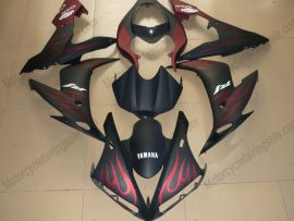 Yamaha YZF-R1 2009-2011 Injection ABS Fairing - Flame - Black/Red