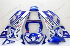 Yamaha YZF-R6 1998-2002 Injection ABS Fairing - FIAT - Blue/White