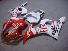 Yamaha YZF-R6 2003-2004 Injection ABS Fairing - FIAT - White/Red