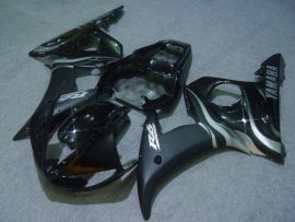 Yamaha YZF-R6 2003-2004 Injection ABS Fairing - Silver Flame - Black