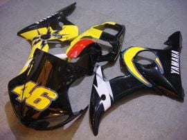 Yamaha YZF-R6 2003-2004 Injection ABS Fairing - Others - Black/Yellow/White