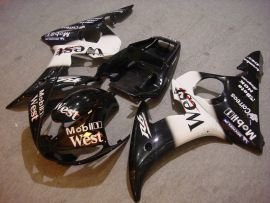 Yamaha YZF-R6 2003-2004 Injection ABS Fairing - West - Black/White