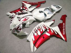 Yamaha YZF-R6 2008-2014 Injection ABS Fairing - Red Flame - White/Red