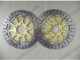 Suzuki GSXR1000 600/750 1997-2003 Front Floating Disc Brake Rotor - Gold