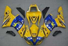 Yamaha YZF-R1 2000-2001 Injection ABS Fairing - Camel - Yellow/Blue