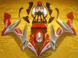 Yamaha YZF-R1 2004-2006 Injection ABS Fairing - Fortuna - Silver/Red