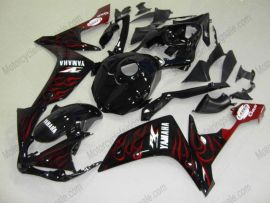 Yamaha YZF-R1 2007-2008 Injection ABS Fairing - Flame - Black/Red