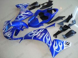 Yamaha YZF-R1 2009-2011 Injection ABS Fairing - Flame - Blue/White