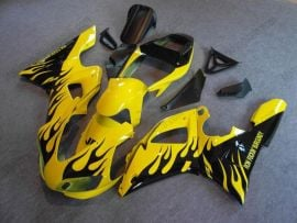 Yamaha YZF-R1 1998-1999 Injection ABS Fairing - Flame - Yellow/Black