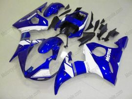 Yamaha YZF-R6 2003-2004 Injection ABS Fairing - Others - Blue/White