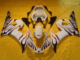 Yamaha YZF-R6 2003-2004 Injection ABS Fairing - Flame - White/Red