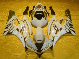 Yamaha YZF-R6 2006-2007 Injection ABS Fairing - Flame - White/Gold