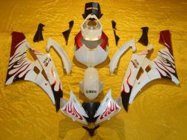 Yamaha YZF-R6 2006-2007 Injection ABS Fairing - Flame - White/Red