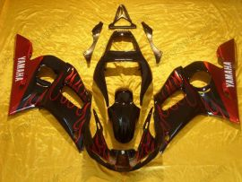 Yamaha YZF-R6 1998-2002 Injection ABS Fairing - Flame - Black/Red