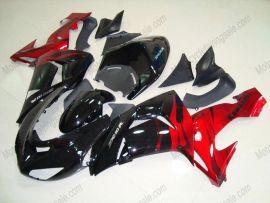 Kawasaki NINJA ZX10R 2006-2007 Injection ABS Fairing - Flame - Black/Red