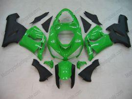 Kawasaki NINJA ZX6R 2005-2006 Injection ABS Fairing - Others - Green/Black