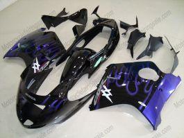 Honda CBR 1100XX BLACKBIRD 1996-2007 Injection ABS Fairing - Blue Flame - Black