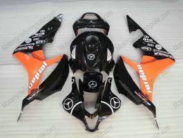 Honda CBR 600RR F5 2007-2008 Injection ABS Fairing - Jordan - Black/Orange