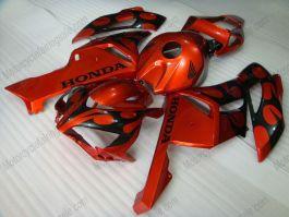 Honda CBR1000RR 2004-2005 Injection ABS Fairing - Flame - Black Flame(Orange)