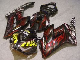 Honda CBR1000RR 2004-2005 Injection ABS Fairing - Flame - Red/Yellow