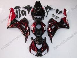 Honda CBR1000RR 2006-2007 Injection ABS Fairing - Red Flame - Red/Black