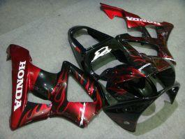 Honda CBR900RR 929 2000-2001 ABS Fairing - Flame - Red Flame(Black)