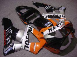 Honda CBR900RR 929 2000-2001 ABS Fairing - Repsol - Black/Silver/Orange