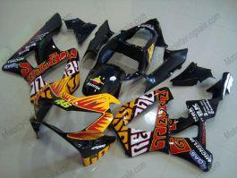 Honda CBR900RR 929 2000-2001 ABS Fairing - Rossi - Orange/Black