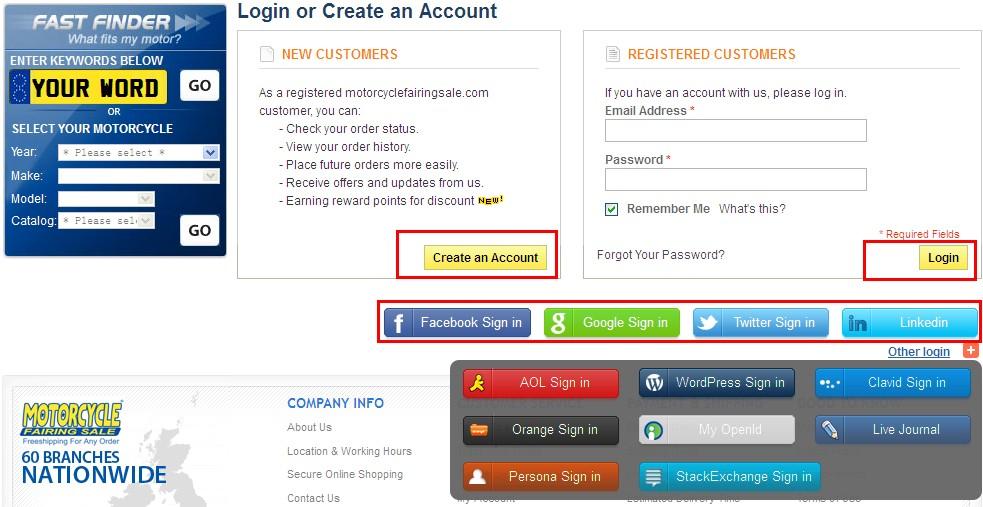 Login or Create an Account